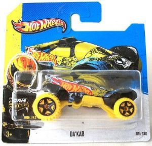 Hot Wheels 89/250 Da Kar Diecast Car HW Stunt 2013 Yellow